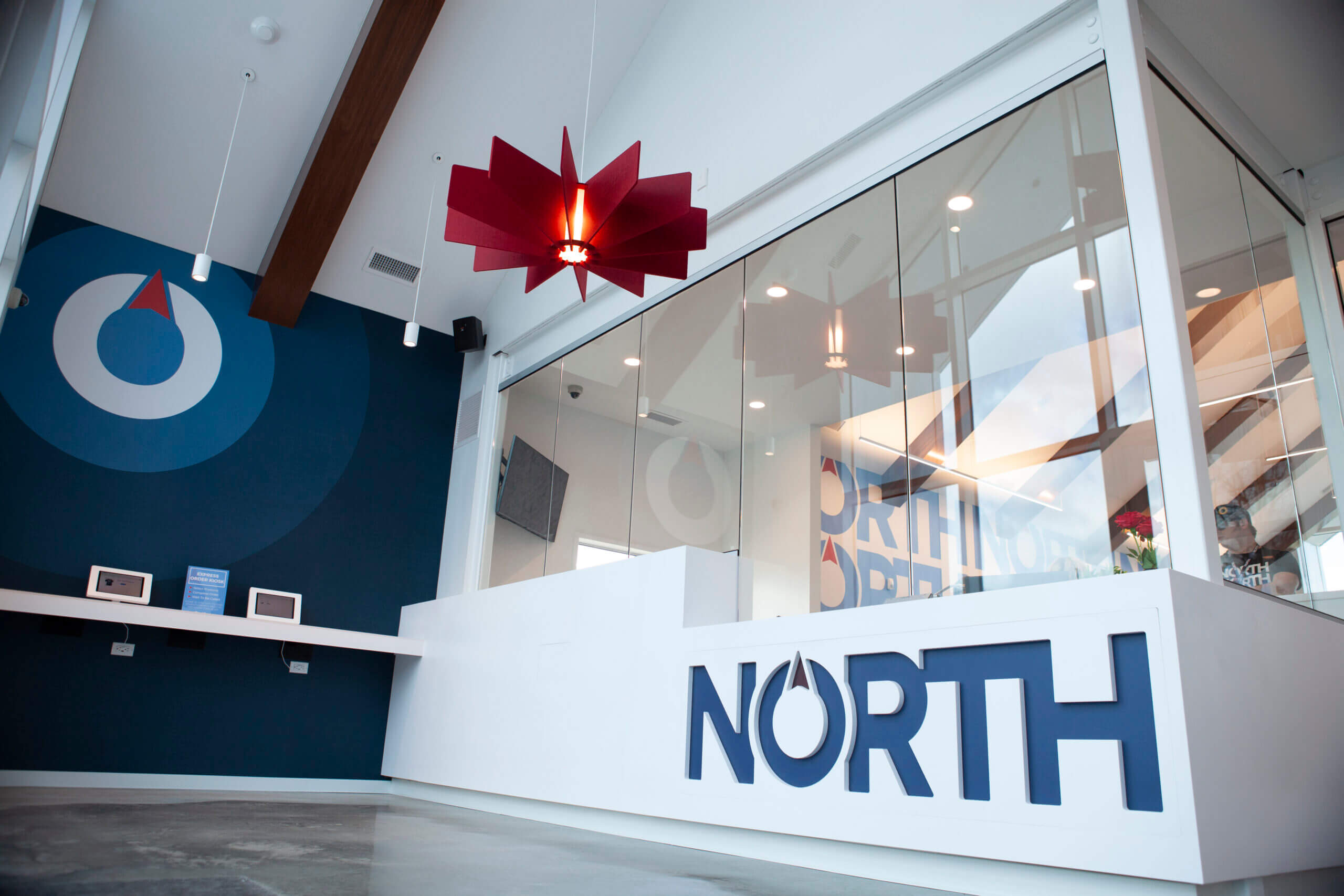 North Medical dispensary interior lobby